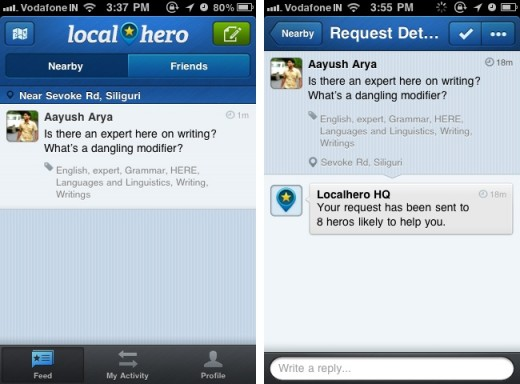 Localhero 3 520x384 Localhero: A location based help network on your iPhone