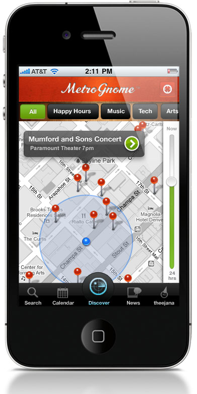 Map MetroGnome: The first app smart enough to suggest events youll actually attend