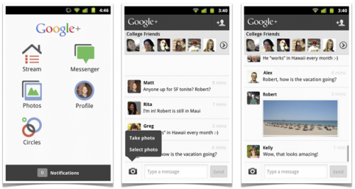 Messenger 500x266 Google replaces Huddle with Messenger, throws photo sharing into the mix