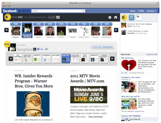 NM FB 2 520x397 Sobees brings its Newsmix social news discovery app to Facebook
