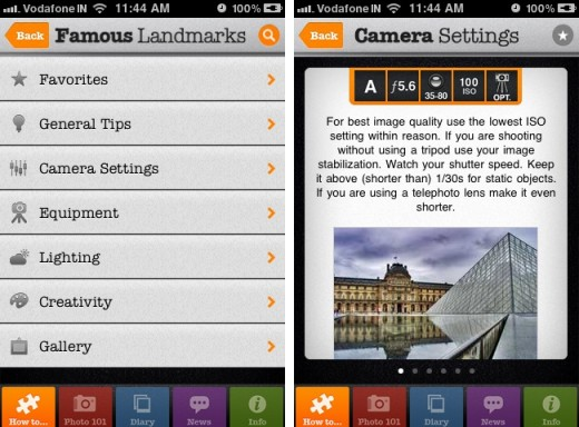 Photo Academy 1 520x384 Photo Academy: An all in one photography guide on your iPhone
