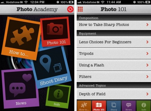 Photo Academy 11 520x384 Photo Academy: An all in one photography guide on your iPhone