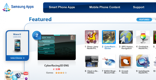 Samsung Apps 1316083554528 520x267 Samsung launches a Premium Apps Store for Android in the UK
