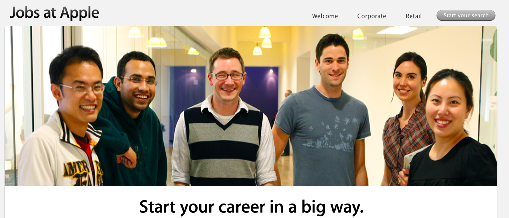 Apple's new 'Student Jobs' website: Offering internships to students and jobs to graduates ...