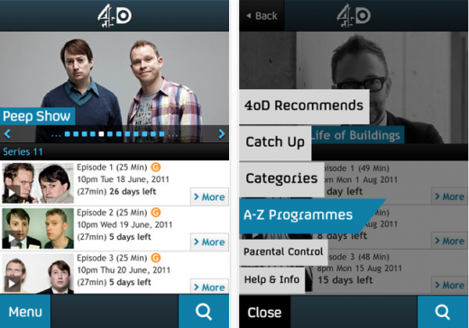 Screen Shot 2011 09 02 at 13.38.15 520x364 UKs Channel 4 brings 4oD catch up TV app to the iPhone with Buy on iTunes feature