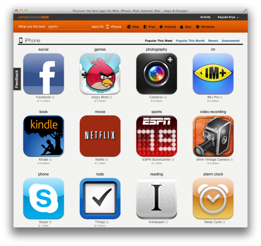 Screen Shot 2011 09 02 at 5.00.42 PM 520x490 Apps & Oranges: a slick new site that helps you find and discover great apps [Invites]