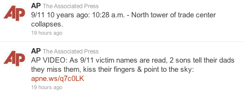 Screen Shot 2011 09 12 at 10.55.17 The Guardians 9/11 mistake shows were still learning the boundaries of Twitter
