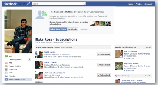 Screen Shot 2011 09 14 at 18.11.51 520x279 Facebook unveils new Subscribe button, eliminating your desire for any other network