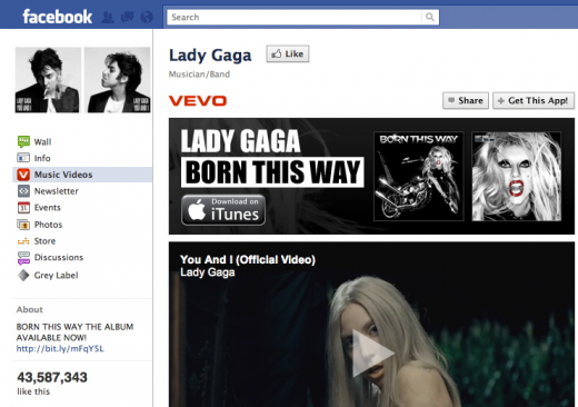 Screen Shot 2011 09 21 at 3.33.34 PM 520x366 Vevo is coming to Facebook, which means Google could be inside too