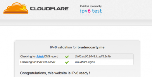 Screen Shot 2011 09 21 at 7.03.05 PM 520x264 CloudFlares 2 click solution makes your website IPv6 compatible for free
