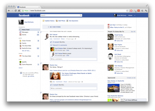 Screen Shot 2011 09 21 at 8.03.27 AM 520x372 Heres a Chrome extension that kills the Facebook news ticker