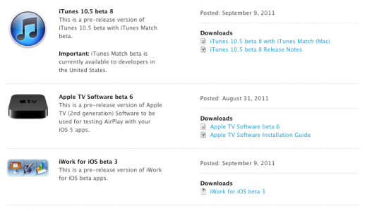 Screen shot 2011 09 09 at 11.59.38 AM 520x299 Apple releases iTunes 10.5 beta 8 and iWork for iOS beta 3 to developers