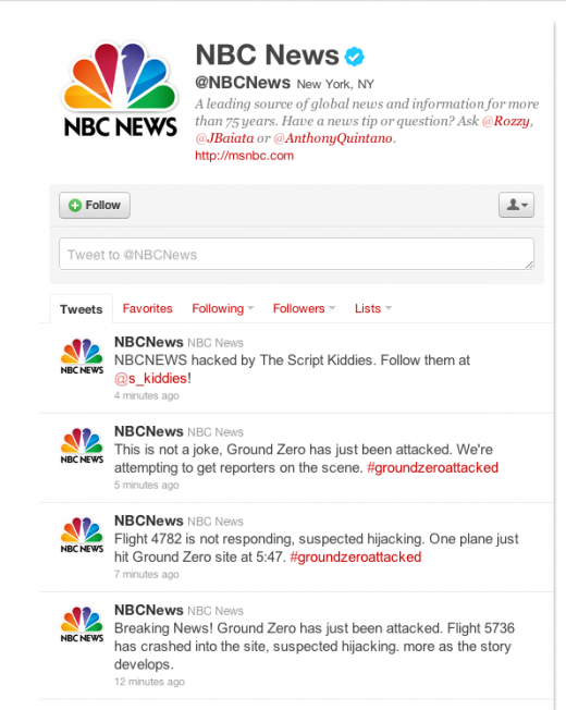Screen shot 2011 09 09 at 3.00.34 PM 520x652 Hacked NBC Twitter account sending out false reports of Ground Zero terrorist attack [Updated]