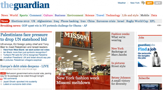 Screen shot 2011 09 14 at 11.54.53 AM 520x288 The Guardian Launches in America