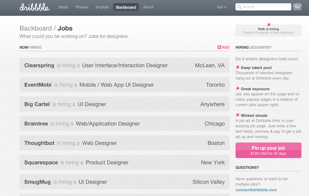 Job Listing Page Design Gallery. Jobify Job Listings StackOverflow Job Listing Companies .