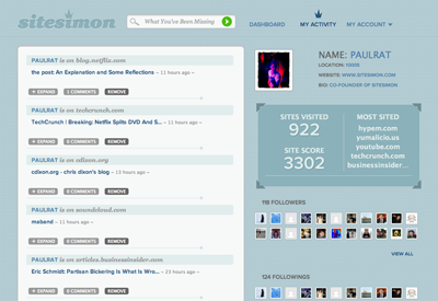 ScreenshotMyAcctSmall Sitesimon launches in public beta to serve you better content based on your browsing