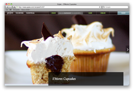 Smorescupcakes 520x357 With its beautiful recipe curation, Gojee has investors mouths watering