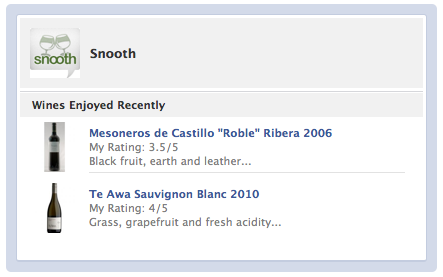 SnoothFacebook The new Snooth integration turns Facebook into a wine tasting party