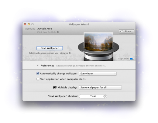 Wallpaper Wizard1 520x407 Wallpaper Wizard brings over 100,000 wallpapers to your Mac desktop