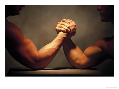 arm wrestlers wrestling When Google+ launches for brands, how will SMBs react?