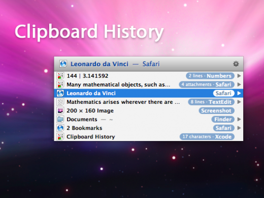 clipboard history zoomed 520x389 5 powerful apps every Mac user should have