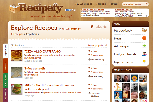 explore Recipefy: The social network that lets foodies find and share recipes