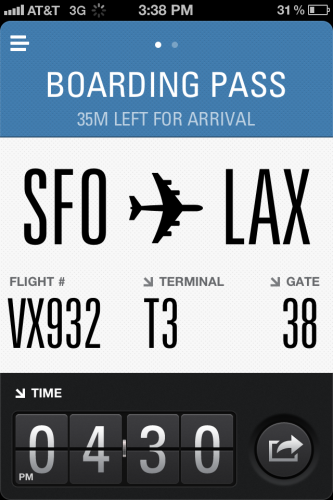 flightcard2 333x500 The Flight Card iPhone app is a beautiful way of checking your flight details