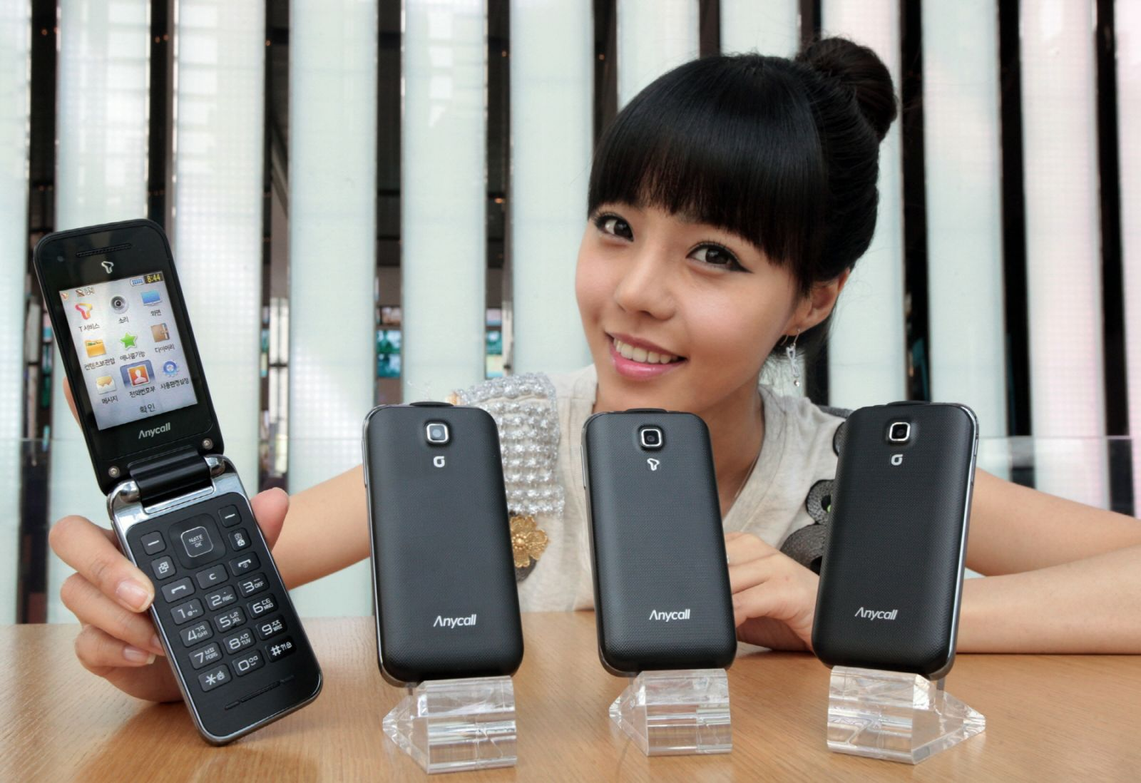 Asian Model with Mobile Phones