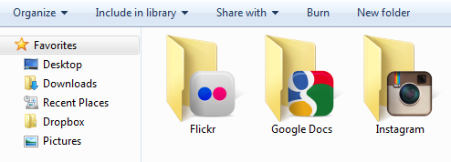 folder SocialFolders is like Dropbox for your data from Facebook, Flickr, Google Docs and more [Invites]