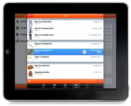 handshake add to cart 520x419 The Handshake app wants to put an iPad in every wholesalers hands