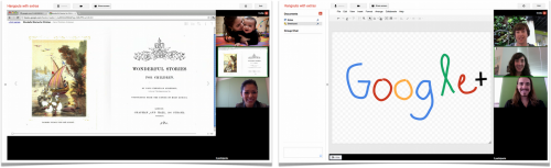 hangouts with extras 1 500x153 Google+ Hangouts just became a public broadcast and presentation platform