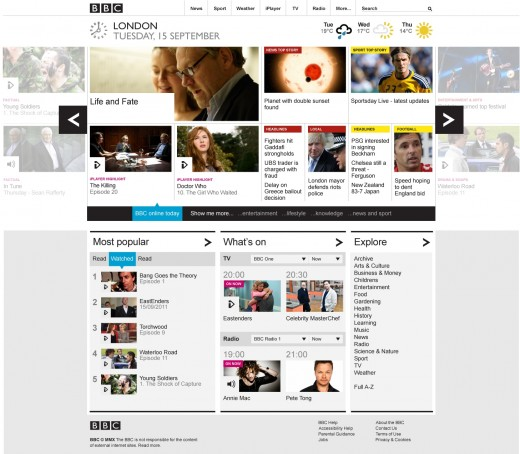homepage low res 520x454 The BBC debuts new touchscreen inspired homepage design