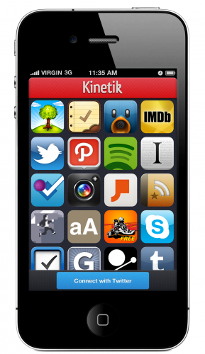 iPhone4 Front Side 289x500 Kinetik: An iPhone app that lets you find and share great iPhone apps