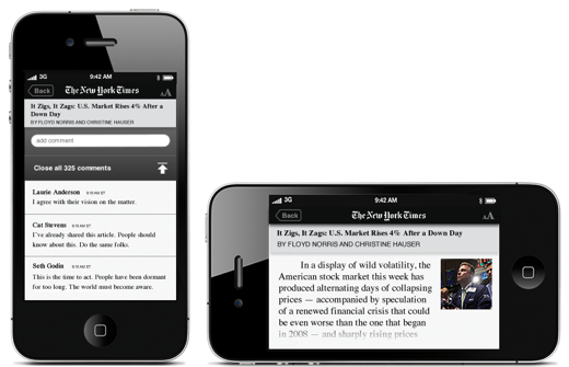 iphone9 Check out this designer's slick mockup of the New York Times iPhone app