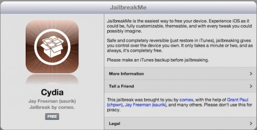 jailbreakme 520x263 Jailbreaking: The community, the challenges and fighting Apple