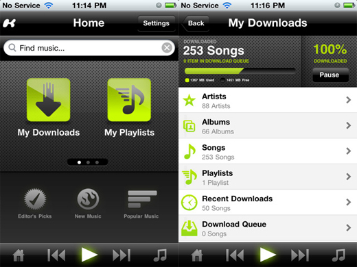 kazaa Kazaa releases iPhone app, stepping up to compete with Spotify