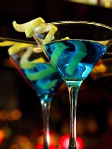 martini drinks blue lemon twist 220x292 Just launched: Grouper arranges blind group meetups over drinks in New York City