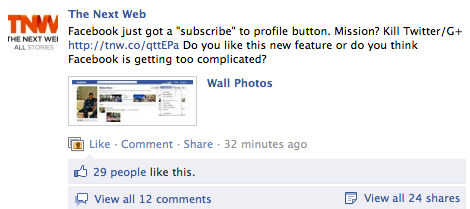 shares Facebook unveils new Subscribe button, eliminating your desire for any other network