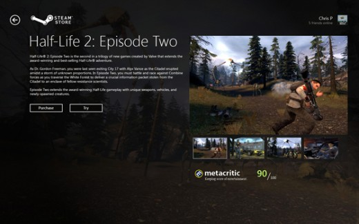 Steam 'Metro Style' UI Mockup - (FAN MADE : NOT ASSOSIATED WITH