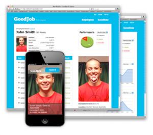 tempscreen sample02 300x265 GoodJob: Using an iPod touch to create better employee retention