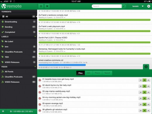 µtorrent ipad remote interface 520x390 µTorrent for Mac adds RSS support, scheduling and new remote iPad UI