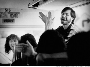 1987a dmenuez laugh 300x226 On Steve Jobs.