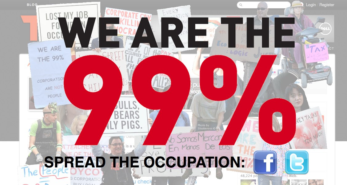 If you can't make it to Wall Street, Occupy the URL lets you do it from home