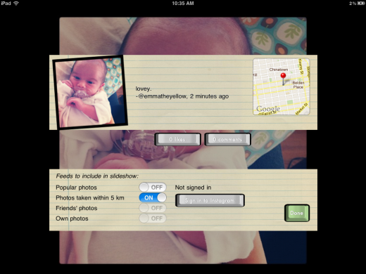 IMG 0062 520x390 Instaframe turns your iPad into a digital Instagram photo frame