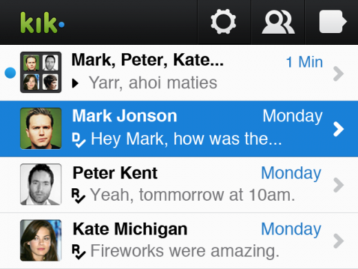 KIK bb 1 520x390 Kik comes back to the BlackBerry, just in time for BBM outage