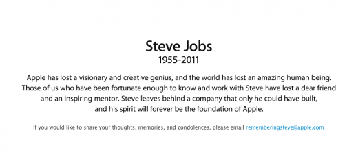 Screen Shot 2011 10 06 at 00.48.38 520x232 Steve Jobs Has Died