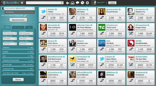 Screen Shot 2011 10 06 at 10.46.22 520x289 Twitter power tools in your browser: SocialBro launches as a Chrome app
