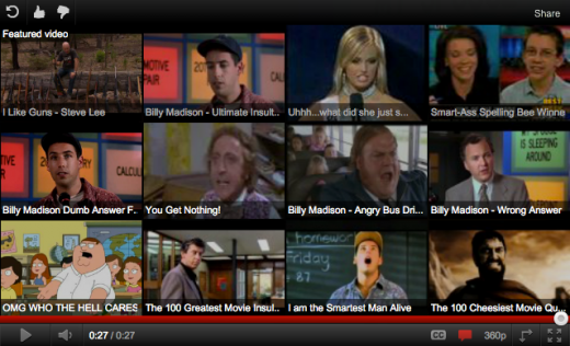 Screen Shot 2011 10 13 at 11.04.48 AM 520x316 YouTube is rolling out a new 12 choice pane for related videos