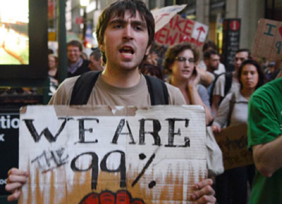 Over 100K different hashtags used to discuss Occupy Wall Street on Twitter