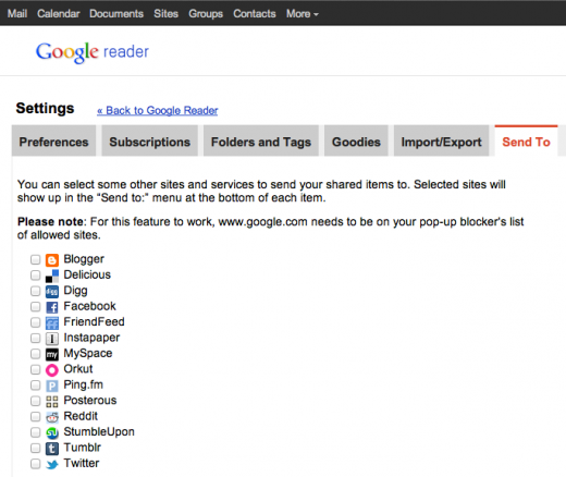 Screen Shot 2011 10 31 at 5.19.32 PM 520x438 Google Readers new look and forced Google+ sharing are now live